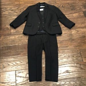 Boys 3-piece black suit
